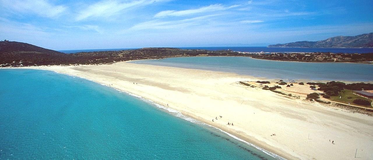 Beach of Porto Giunco Timi Ama in Villasimius, Sardinia