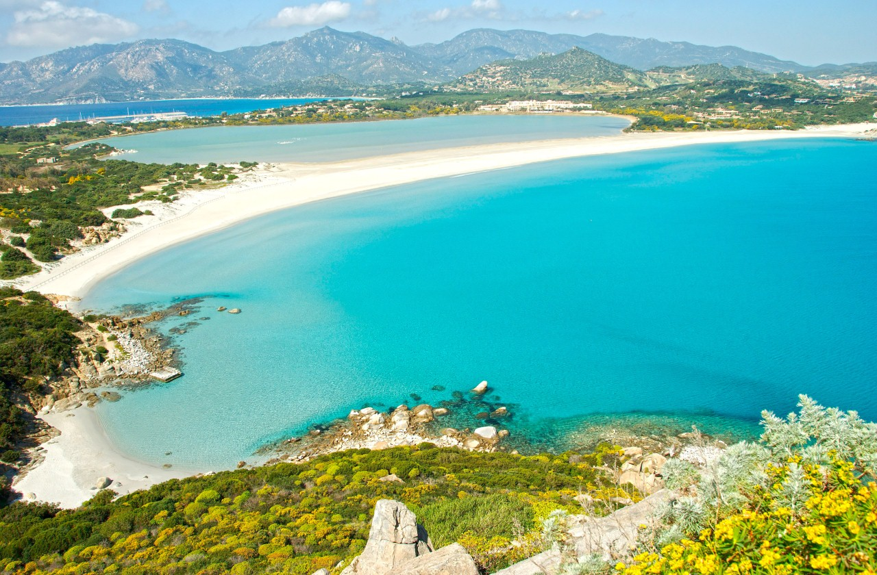 Villasimius Tours: Beach of Porto Giunco, VIllasimius, Sardinia